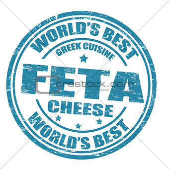 Feta cheese stamp