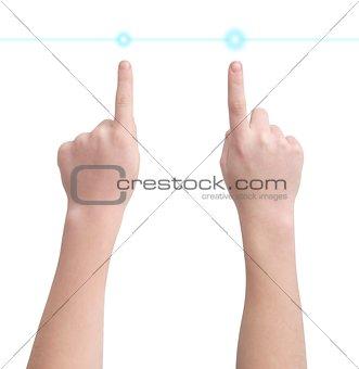 Indicatory fingers