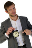 businessman and alarm clock