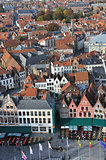 Brugge - Grote Markt birds eye view