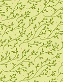 Green Spring Seamless Pattern