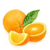 Heap of fresh orange