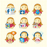 Design Elements - Set Of Social Icons
