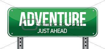adventure road sign