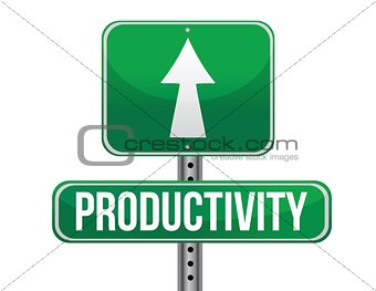 productivity road sign