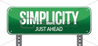 simplicity road sign