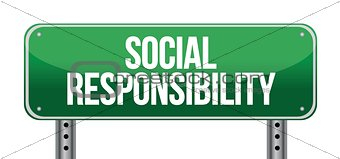 social responsibility road sign