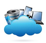 technology electronics Cloud computing concept