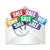 envelope with for sale color signs