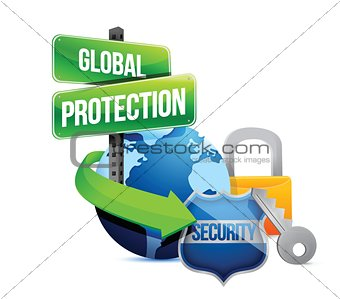 global protection earth concept