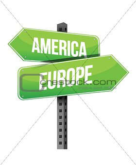 America and Europe sign