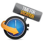Time for a vacation watch sign