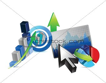 Business financial economy concept