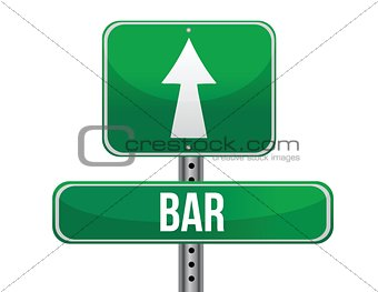 bar road sign