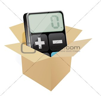 box and modern calculator