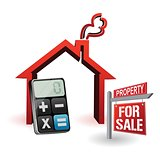 real estate and modern calculator