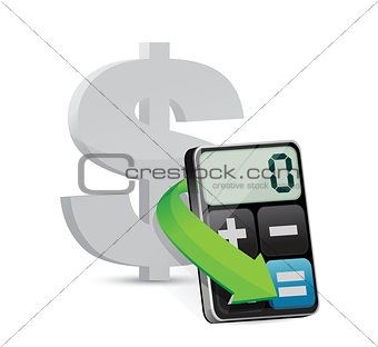 dollar and modern calculator