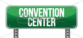 convention center road sign
