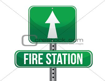 fire station road sign
