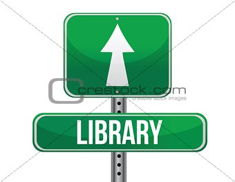 library road sign