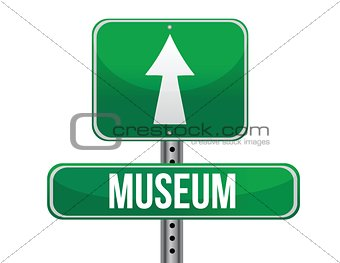 museum road sign
