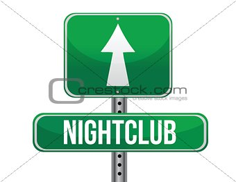 nightclub road sign