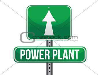 power plant road sign