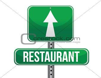 restaurant road sign
