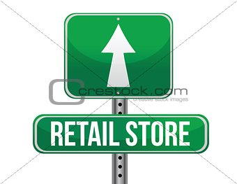 retail store road sign