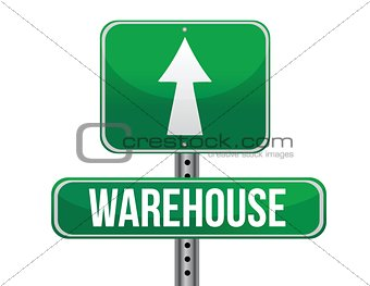 warehouse road sign