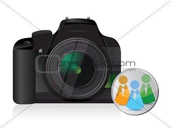 camera social network icon