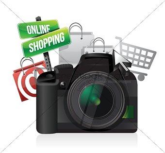 camera online shopping concept