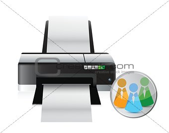 printer social network icon