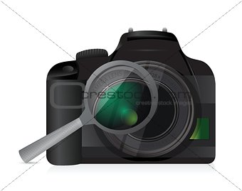 camera magnify illustration design