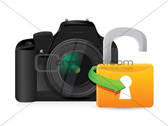 camera unlock illustration graphic design