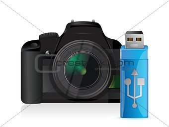 camera and usb stick