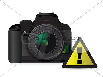 camera warning sign concept