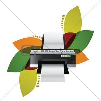 printer floral