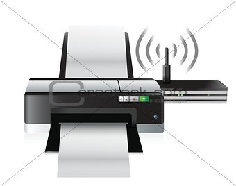printer and router connection
