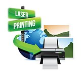 laser printing concept