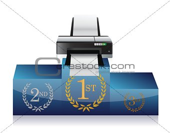 printer winners podium