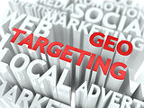Geo Targeting Concept.