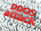 DDOS Attack Concept.