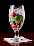 raspberry mint water