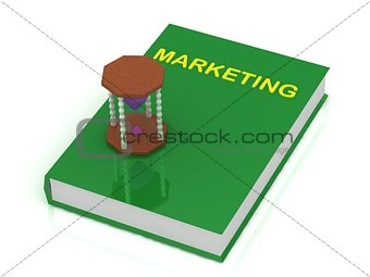 sandglass with purple sand and Book Marketing