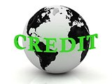 CREDIT abstraction inscription around earth