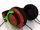 Concept modern headphones 