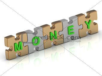 MONEY word of gold puzzle