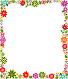 floral border frame background