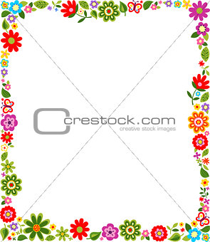 floral border frame background